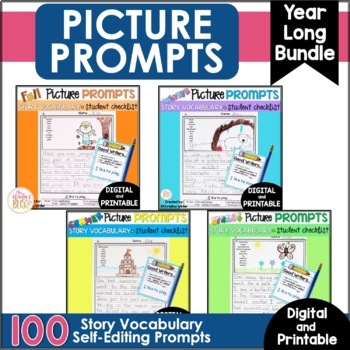 Fall Winter Spring Summer - Writing Picture Prompts BUNDLE