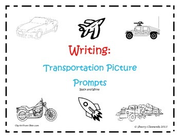 Transportation Writing Picture Prompts
