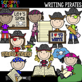 Writing Pirates Clipart {Scrappin Doodles Clip Art}