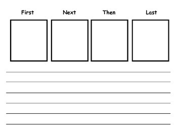 "Writing Plan sheet for ""First, next, then and last"""
