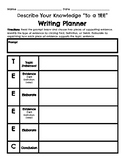 Writing Planner, Describe Your Knowledge ¨To a TEE¨, Wit a