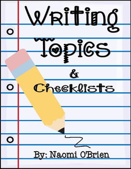 Writing Planning Sheets and Topics