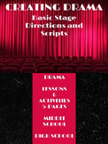 """Writing Activities: Creating Drama - """"Basic Stage Directions and Scripts"""""""
