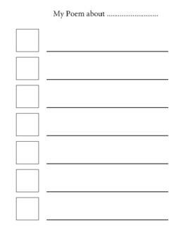 Writing Poems.  Templates.