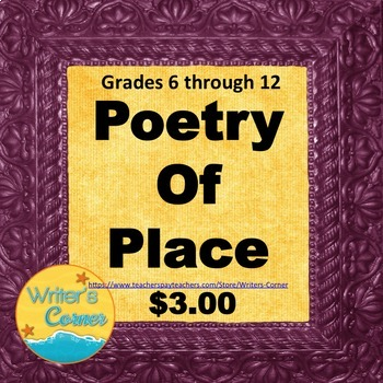 Writing Poetry About A Place, Compare and Contrast, Memoir, Rubric, Sub Plan