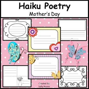 Writing Poetry Haiku  for Mother's Day