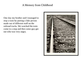 Writing Poetry from a Childhood Memory