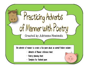 Writing Poetry with Adverbs of Manner