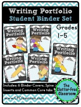 Writing Portfolio Binder Packet {for Common Core Writing G