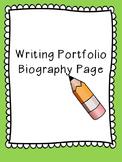Writing Portfolio Biography Page
