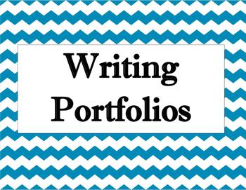 Writing Portfolio Chevron Sign