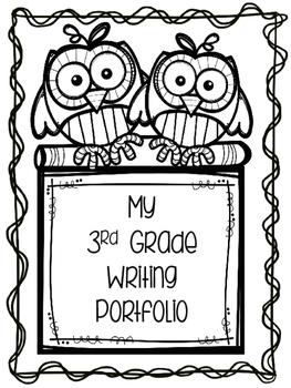 Writing Portfolio Cover Sheets