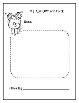 Writing Portfolio Journal Pre-K-1 grade