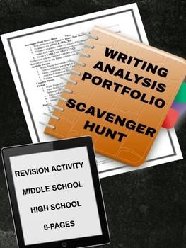 Writing Analysis Portfolio Activity: Scavenger Hunt