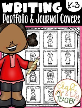 Writing Portfolio and Journal Covers - kids color their character