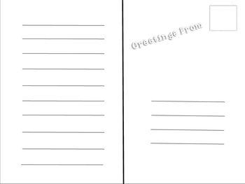 Writing: Postcard