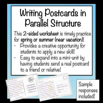 Writing Postcards in Parallel Structure