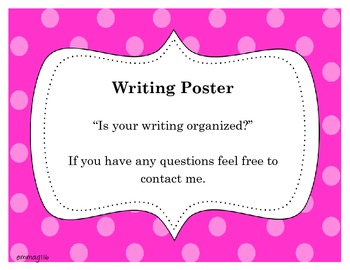 Writing Poster