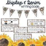 Writing Goals Poster | Shabby Chic & Farmhouse Inspired Decor