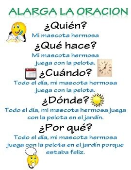 Writing Poster Spanish Escritura
