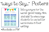 Writing Poster: Way to Say... #2