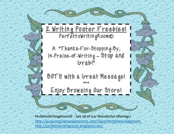 Writing Posters (2) FREEBIE - Welcome to My Store