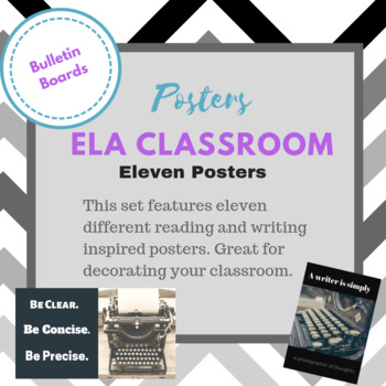 Reading and Writing Posters--Classroom Decorations