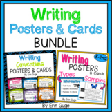 Writing Posters Bundle: Writing Conventions & Types of Writing with Samples