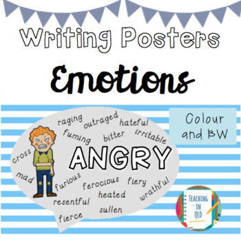 Writing Posters- Emotions (Colour and BW) #ausbts18