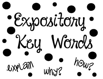 Writing Posters: Expository and Narrative Key Words