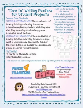 "Writing Posters: ""How to"" Projects for Primary Students"