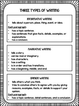 3 types of essays