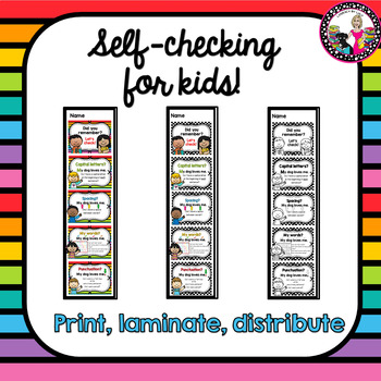 Writing Posters! PLUS Self-Checking Strips for Individual Use! Primary!
