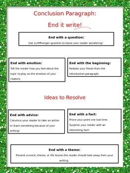 """Writing Posters: Prompt """"Knockout"""" Analysis and Writing Intros and Conclusions"""