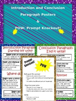 """Writing Posters: Prompt """"Knockout"""" Analysis and Writing In"""