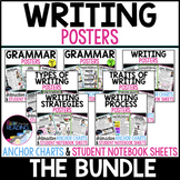 Writing Posters, Writing Anchor Charts & Mini Writer's Notebook Sheets - Bundle
