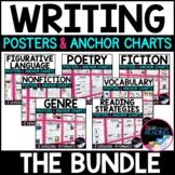Writing Posters, Writing Anchor Charts & Mini Writer's Notebook Sheets - Bundle