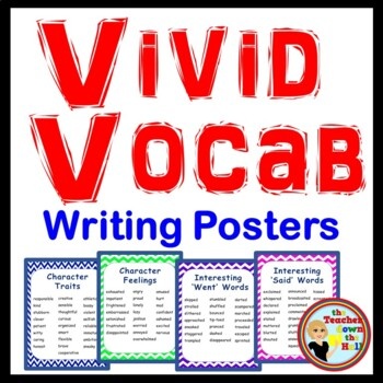 writing descriptive writing anchor charts set of 4 tpt
