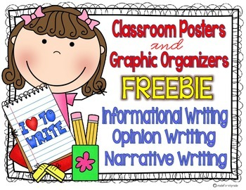 Writing Posters and Graphic Organizers