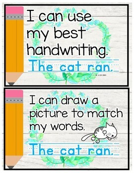 Writing Posters for Beginning Writers-Farmhouse Themed