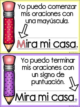 Writing Posters for Beginning Writers in Spanish