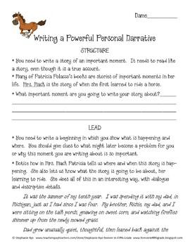 Writing Powerful Personal Narratives-Patricia Polacco Mini Unit