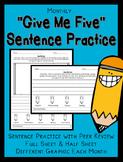 Sentence Writing and Editing