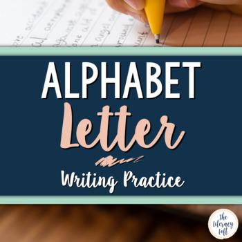 Writing Practice {Alphabet}