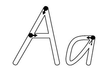 Writing Practice - Alphabet Letters - QLD Beginners Font