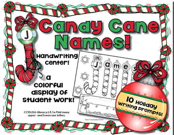 Writing Practice - Candy Cane Writing for Kinders! Cute Cr