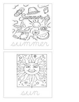 Writing Practice - Cursive - Summer Booklet