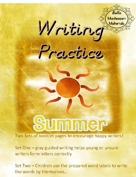 Writing Practice - D'Nealian  - Summer Booklet