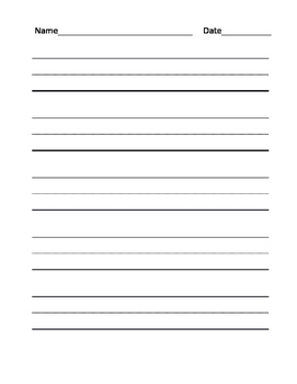 Writing Practice Dotted Line Template