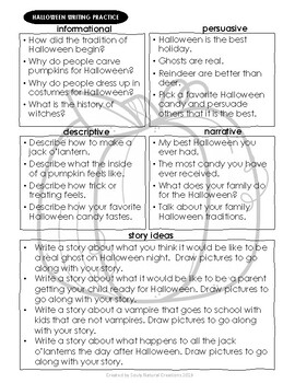 Writing Practice HALLOWEEN Worksheets
